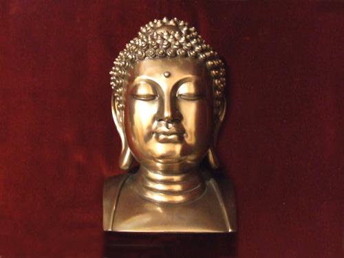 ブッダ(仏陀)ヘッドブロンズ像...